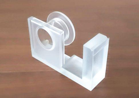 無印良品のテープカッターにテープをセットする前の状態の画像